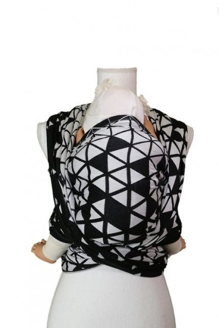 Ring Sling Be Lenka Triangel - black and white