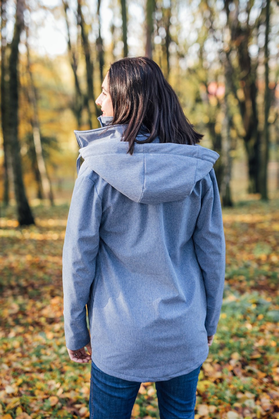 Be Lenka - Steel Blue - Softshell Tragejacke